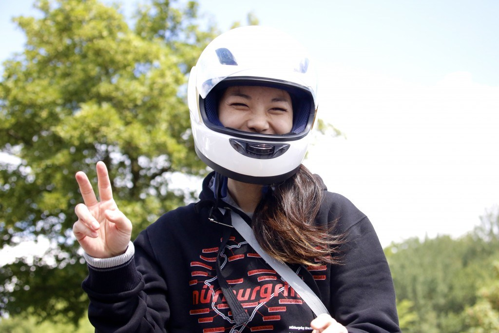 Experiencing the Nürburgring for the first time in the passenger seat, with Yamauchi san driving