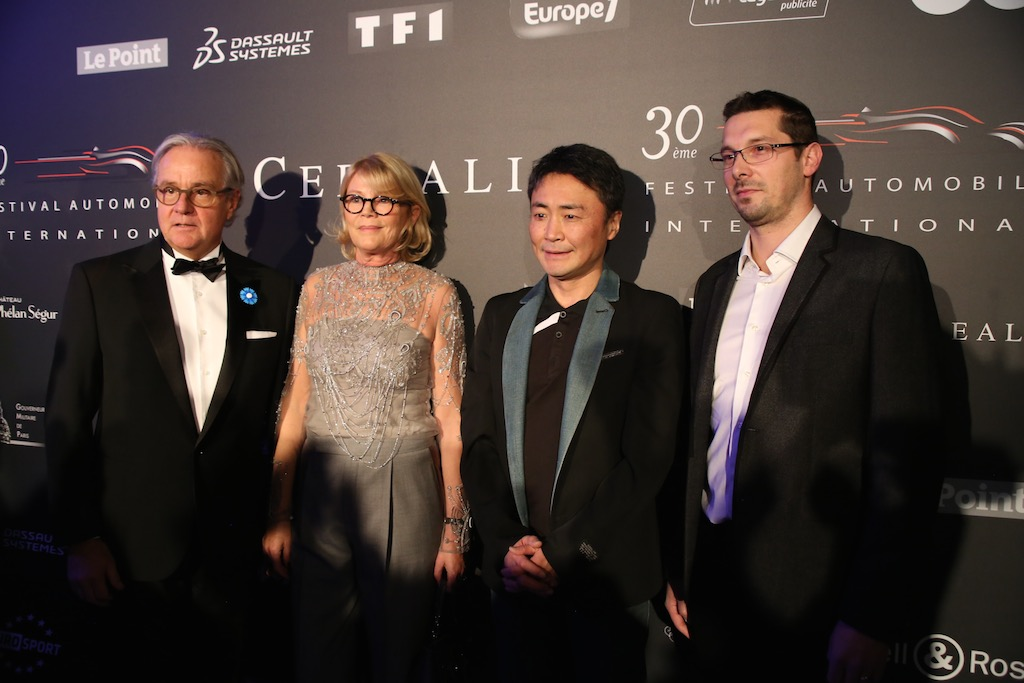 左より、Remi Depoix, Festival International Automobileの創設者であり、オーガナイザー。その隣は奥様のMrs Depoix