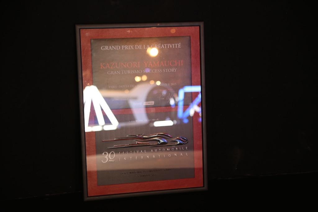 The award plaque